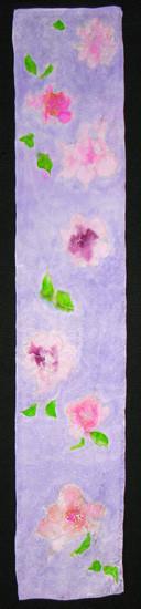 Fleurs Hand Painted Silk Scarf